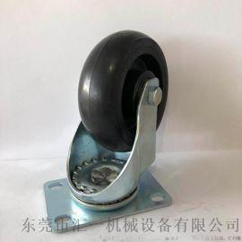 橡胶脚轮厂家直销 中型万向橡胶轮规格