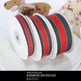 聖誕紅綠條紋羅紋緞帶K153【緞帶王】臺灣制造包裝織帶禮品彩帶絲帶