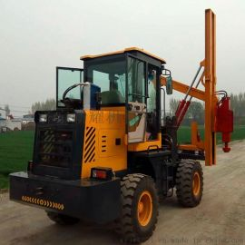 厂家供应车载公路打桩机 高速公路护栏钻孔机 打拔钻一体护栏打桩机