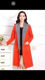 新款雙面羊絨呢大衣女風衣冬毛呢女厚外套中長款修身韓版羊毛呢子
