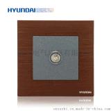 現代開關插座hyundai新款熱賣開關插座K70系列86型一位電視插座