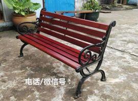 小区钢木休闲座凳 成品园林椅