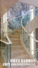 同瑞定制别墅圆弧玻璃楼梯