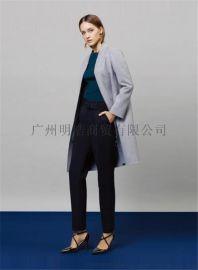 新款優質高端雙面昵大衣品牌女裝折扣店加盟就到廣州明浩