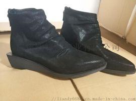 女款短靴定做 女靴加工 小坡跟女鞋