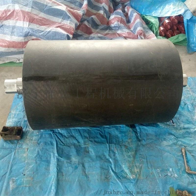 冷包胶的皮带机包胶滚筒 现场包胶滚筒