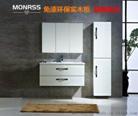 薄边盆蒙诺雷斯浴室柜B-9100环保柜,免漆环保浴室柜