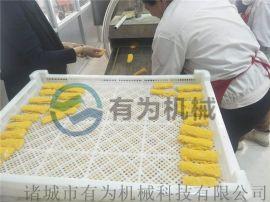 玉米如意棒上糠机 玉米布丁酥裹雪花片机器