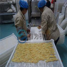 雪花排条裹糠机 黄金鸡柳上面包糠机生产线