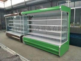 河南郑州水果店展示柜厂家 水果风幕柜保鲜柜定做