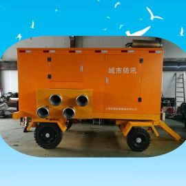 1500立方应急移动泵车 1000立方柴油自吸泵