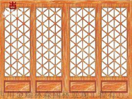 乐山仿古门窗厂家,实木雕花门窗定制加工