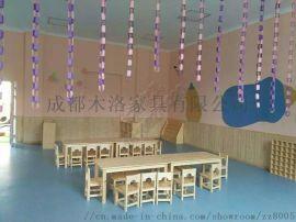 樟子松实木幼儿园家具 四川成都幼儿园家具