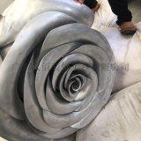 上海商场定制玫瑰花造型双曲板,铝制玫瑰花工艺品