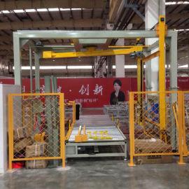大宏摇臂缠绕机 自动化生产线可达到无人化包装