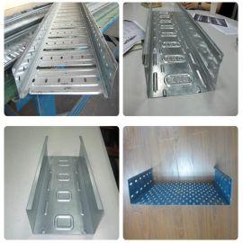 托盘式电缆桥架辊压冷弯成型生产线带冲孔