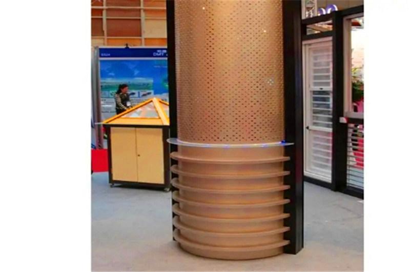 酒樓門頭包柱鋁單板 衝孔鏤空包柱鋁單板