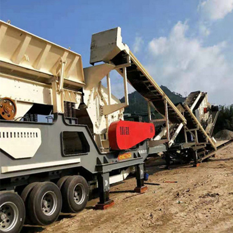 轮胎式建筑垃圾破碎站嗑石机 大型矿山石子破碎机