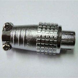重强 P12系列3芯4芯直式电缆母插头 方形公插座 P12-3A P12-3B