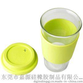 定做批发硅胶咖啡杯套杯盖 防烫防摔杯套杯盖 可加印LOGO