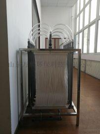 山东万熙MBR膜生物反应器帘式中空纤维膜聚炳烯材料PP污水过滤微滤膜