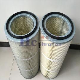 厂家直销 工业除尘滤筒 PTFE覆膜除尘滤筒
