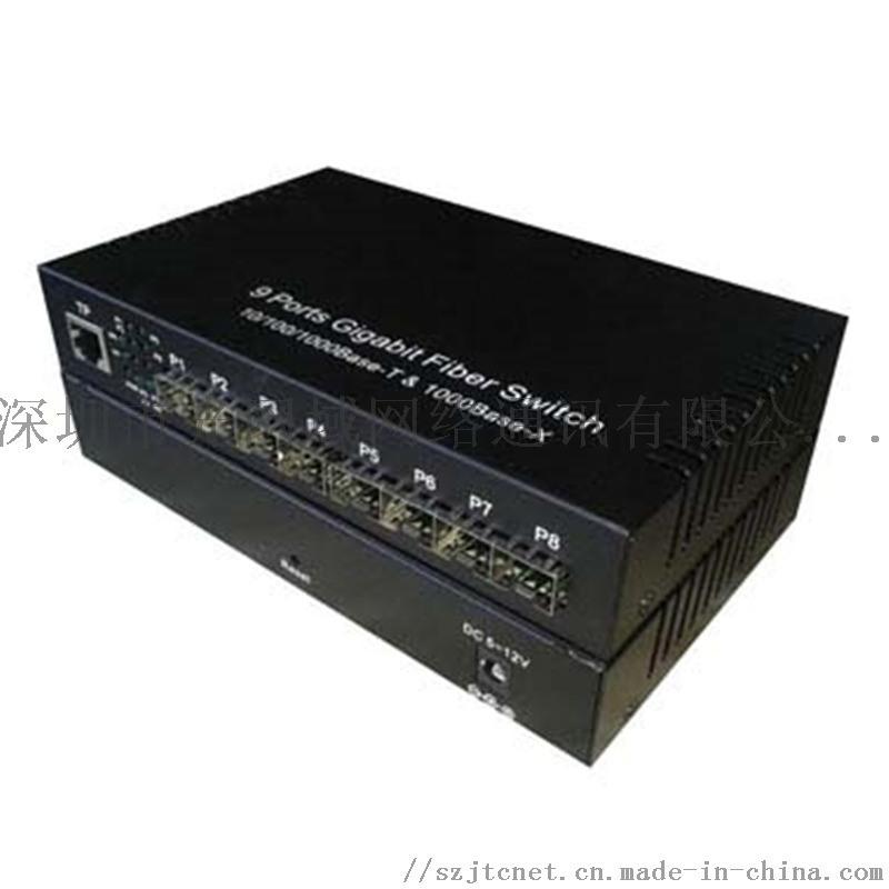 匯聚型光纖交換機全千兆8光1電SFP介面