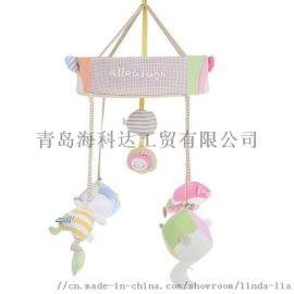 韩版婴儿床床铃全棉布艺音乐旋转挂铃宝宝用品玩具