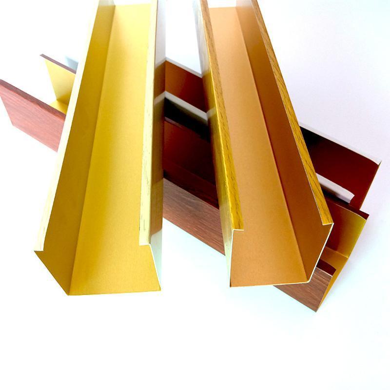 鋁方通廠家機場天花裝飾材料木紋U型鋁方通吊頂