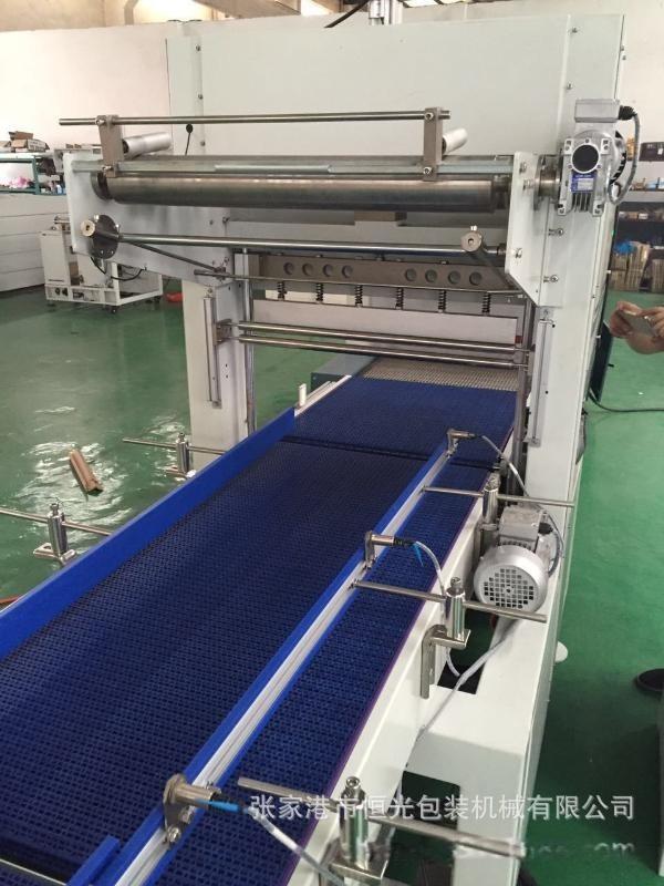 直線式熱收縮包裝機  帶託膜包機 帶託熱收縮包裝機