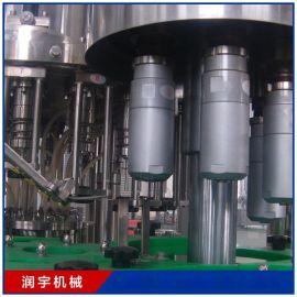厂家直销果汁灌装机3合1 24头 全自动饮料灌装机 润宇机械