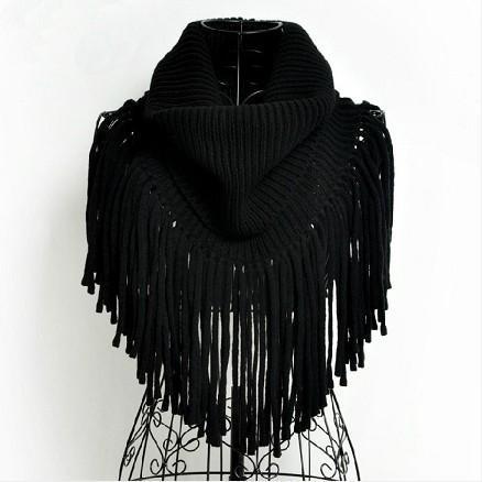 2014新款秋冬天时尚超长流苏粗毛线针织披肩围巾围脖女
