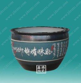 手工雕刻陶瓷大缸 景德镇陶瓷大缸厂家