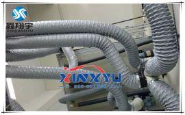 耐温伸缩风管,灰色尼龙布风管,耐酸碱排气管