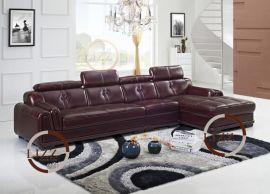现代真皮沙发转角真皮沙发