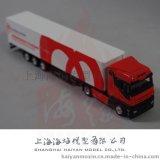 厂家供应 1: 87奔驰车头集装箱货柜车模型 红色