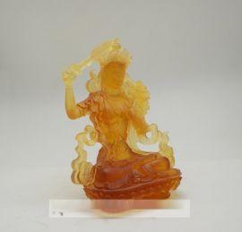 寺庙佛像工艺品,琉璃文殊菩萨定做,兰州琉璃佛像制作