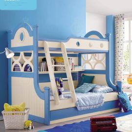 实体店北欧实木双层儿童床 新款高低铺子母上下床厂家批发包邮