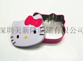迪士尼猫头型铁盒 玩具铁盒 五角形首饰盒 异形罐