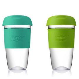 透明玻璃杯 硅胶套创意耐热玻璃杯水杯mochic摩西咖啡杯