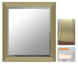华仑出口高分子镜框条照片墙香槟金卫浴镜32x36