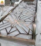 定制不锈钢隔断屏风 镂空异形花格金属壁画  屏风激光切割加工