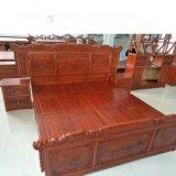 美观大方中式风格康保dz--017老榆木仿古家具卧室双人床