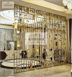 輕奢鏤空花格屏風 不鏽鋼鋁雕隔斷 酒店裝飾屏風