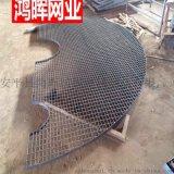 河北安平鸿晖承重力强钢格板 平台钢格板