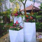 创意玻璃钢菱形花盆组合厂家直销广东肇庆