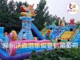 四川成都冲气床定做,广场儿童玩的充气滑梯多少钱