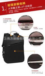 批发定制韩版商务休闲电脑包双肩电脑背包
