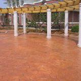 压花混凝土地坪彩色 艺术压模道路材料六盘水厂家