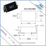 国产贴片二极管专业生产厂家现货批发M7 DO-214AC整流二极管